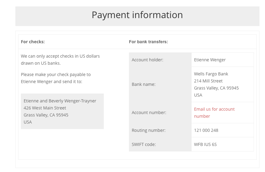 Calculate bank payment